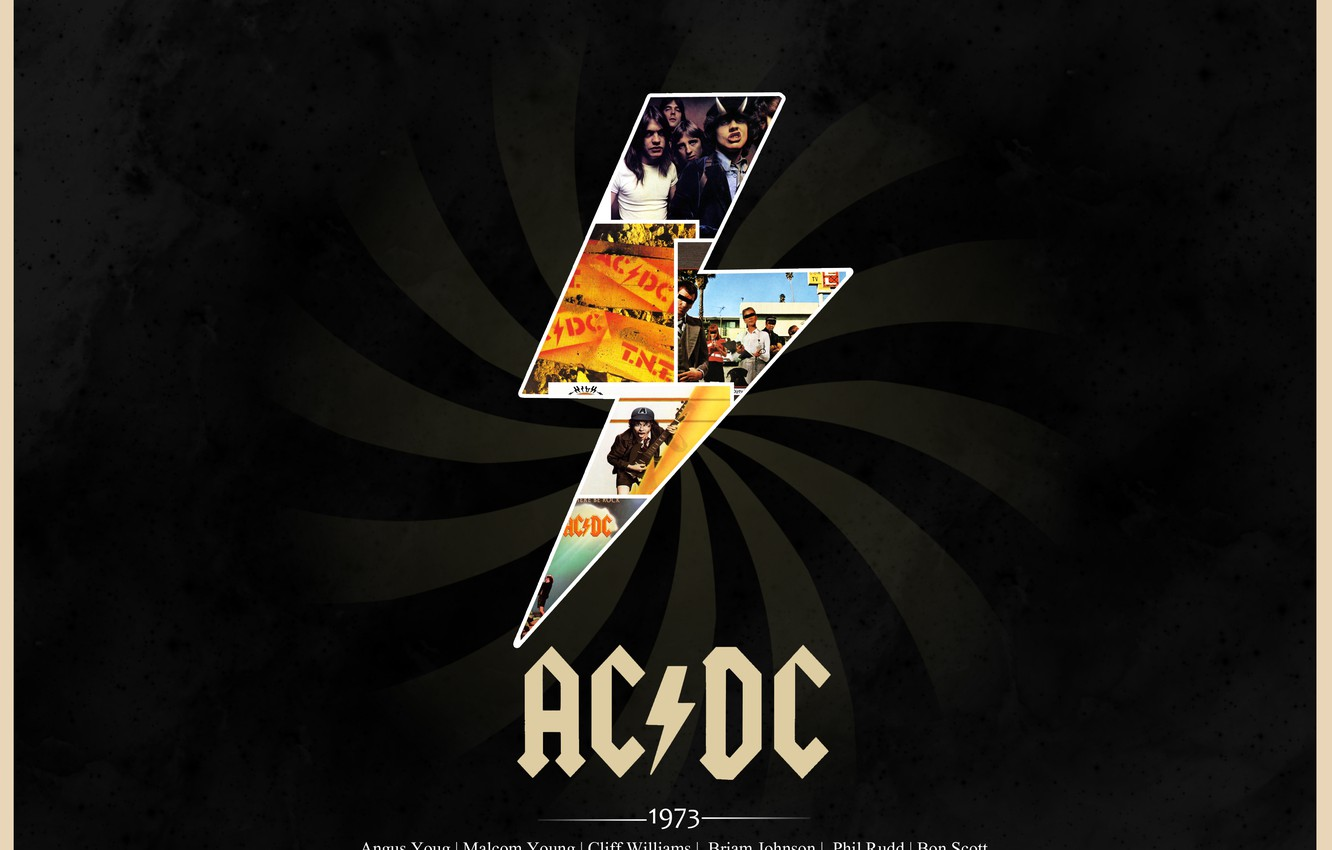 Wallpaper Rock Classic Ac Dc 1973 Album Covers Images For