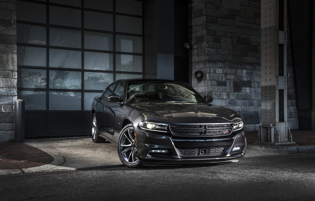 Photo wallpaper Dodge, Charger, R/T, 2014, Road & Track