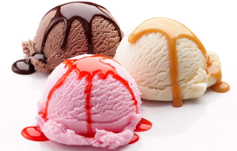 Photo wallpaper balls, chocolate, ice cream, dessert, glaze, dessert, ice cream, raspberry
