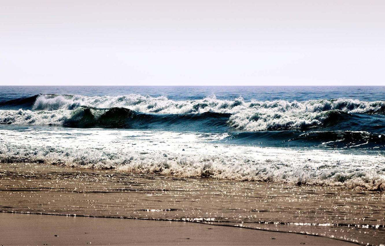 Photo wallpaper sea, wave, beach, summer, the sky, foam, water, landscape, squirt, shore, sea, ocean, water, beaches, …
