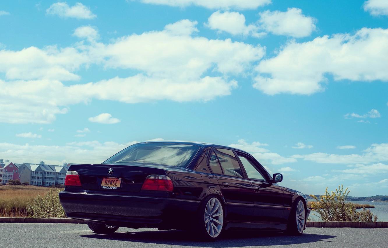Photo wallpaper road, bmw, BMW, classic, Boomer, e38, 750il