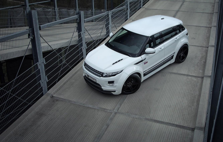 Photo wallpaper machine, white, Land Rover, Range Rover, Evoque, range Rover, Prior-Design, PD650