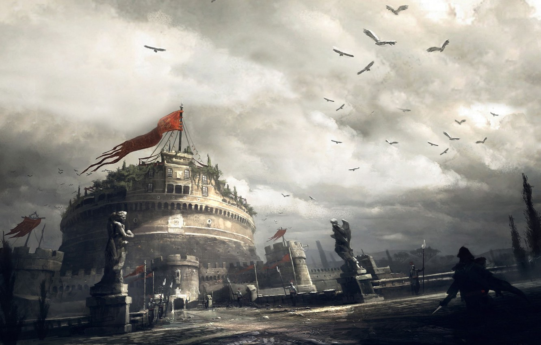 Photo wallpaper assassins creed, game, brotherhood, ubisoft, rome