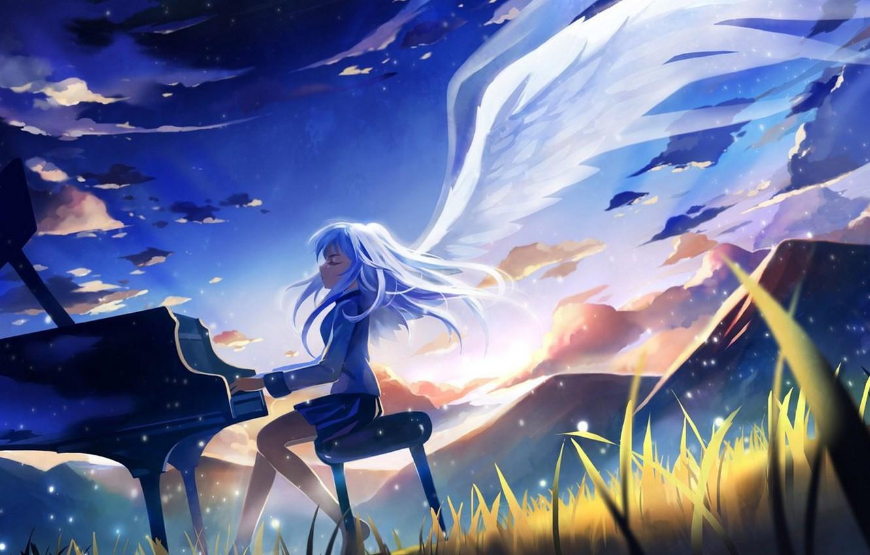 Photo wallpaper anime, angel beats!, angel beats, kanade tachibana