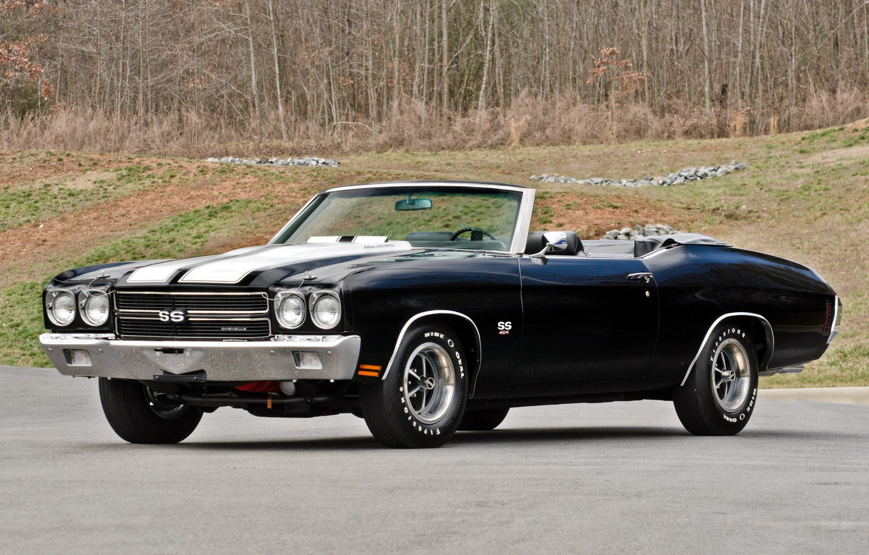 Photo wallpaper car, machine, Chevrolet, Chevrolet, muscle, 1970, 454, Chevelle, Convertible, LS6