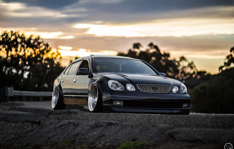 Photo wallpaper car, tuning, stance, Lexus GS