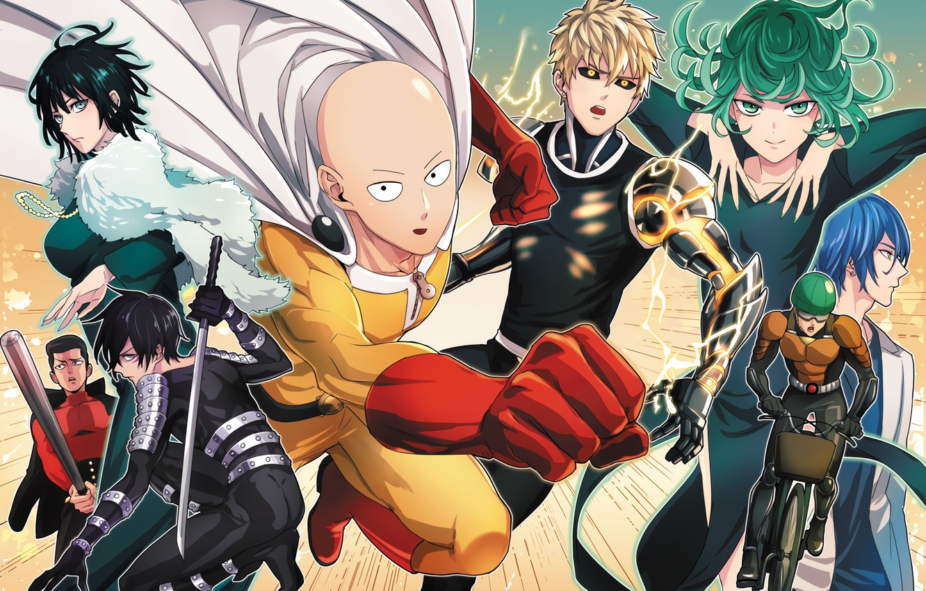 Wallpaper Anime Art Characters Saitama One Punch Man Genos