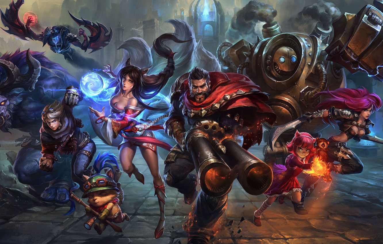 Photo wallpaper fantasy, the game, art, league of legends