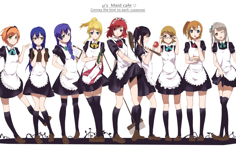 Photo wallpaper girls, bottle, anime, art, ice cream, tray, yazawa nico, love live! school idol project, sonoda …