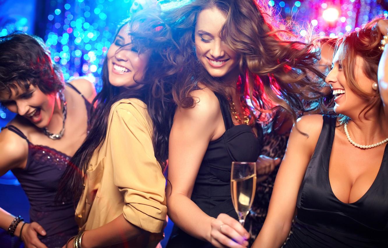 Photo wallpaper party, dance, women