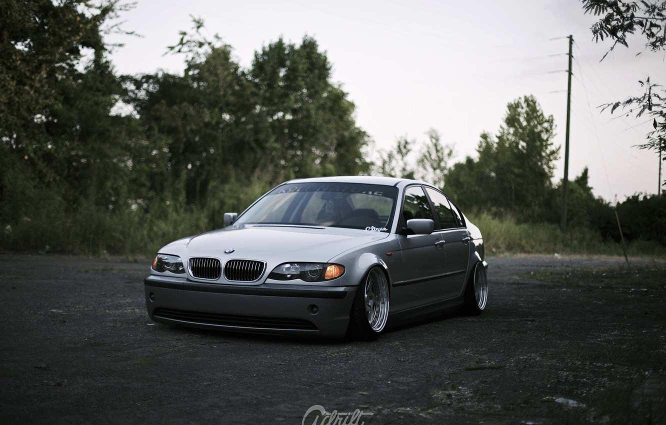 Photo wallpaper bmw, tuning, germany, low, stance, e46
