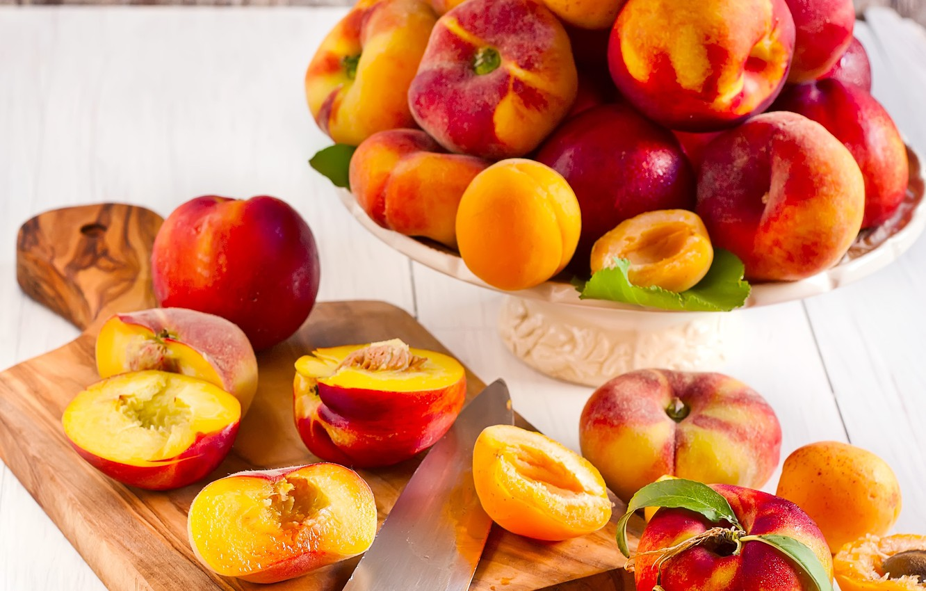 Photo wallpaper peaches, nectarines, peaches, Apricots, nectarines, Apricots