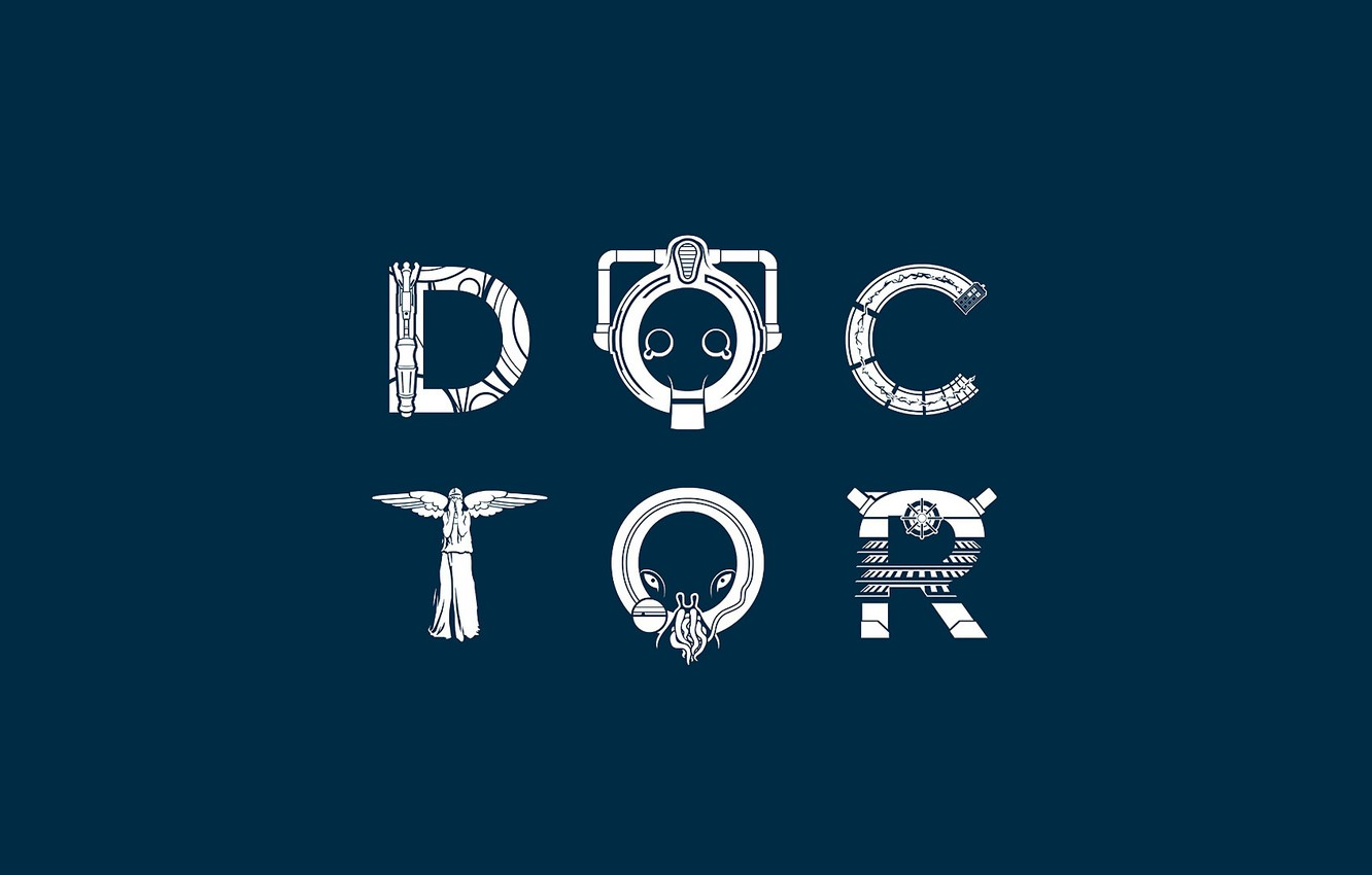Wallpaper The Inscription Doctor Who Blue Background