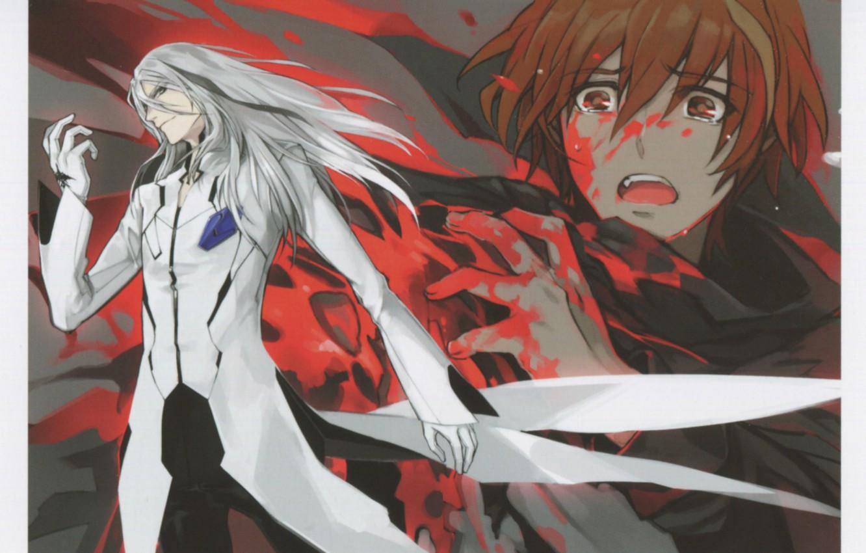 Photo wallpaper blood, despair, tears, Shu Ouma, Guilty crown, Gai, Guilty crown, The undertaker