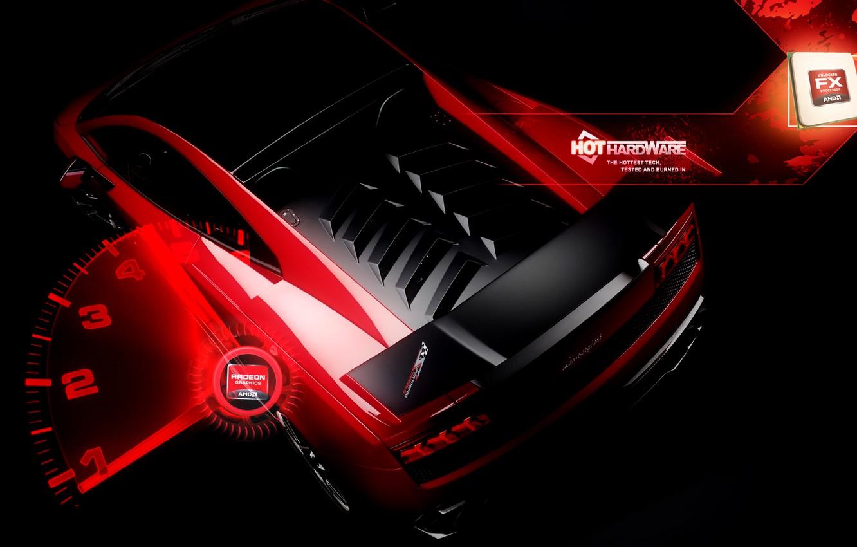 Photo wallpaper Lamborghini, amd, radeon