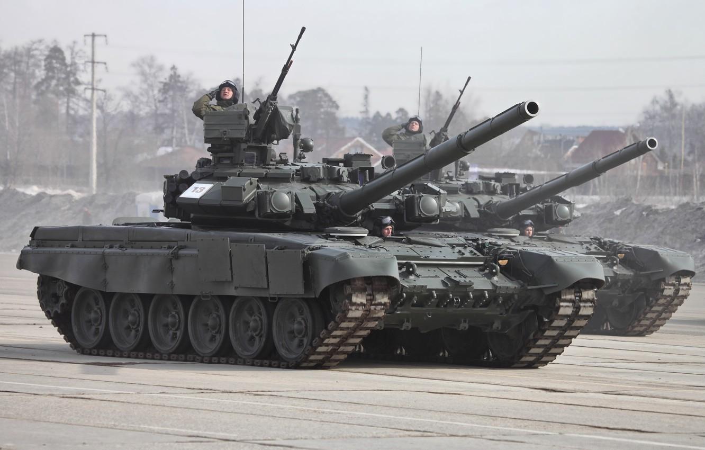 Photo wallpaper tank, Russia, T-90, honor, Parade