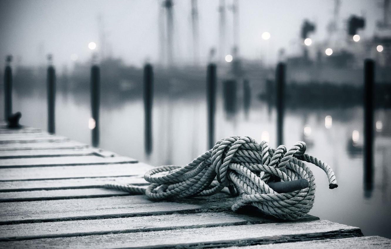 Photo wallpaper rope, bokeh, a coil