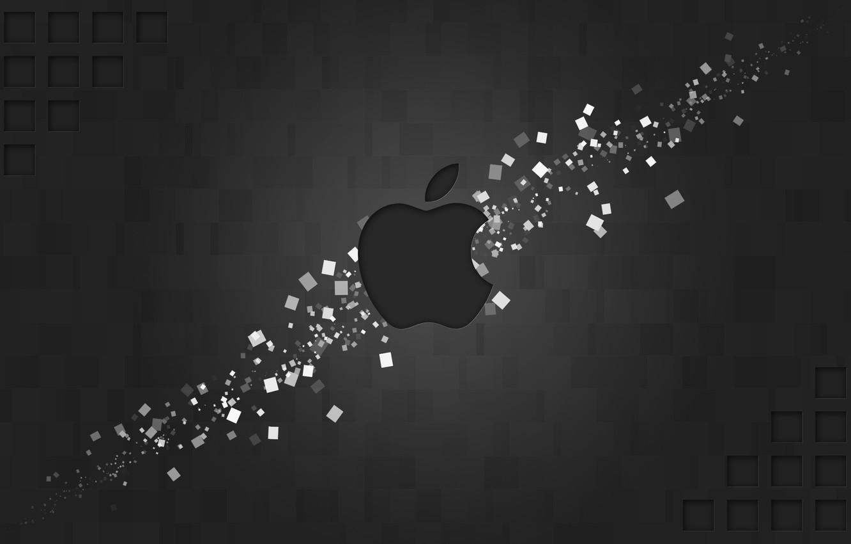 Photo wallpaper apple, logo, mac, figure, brand, hi-tech, rectangles