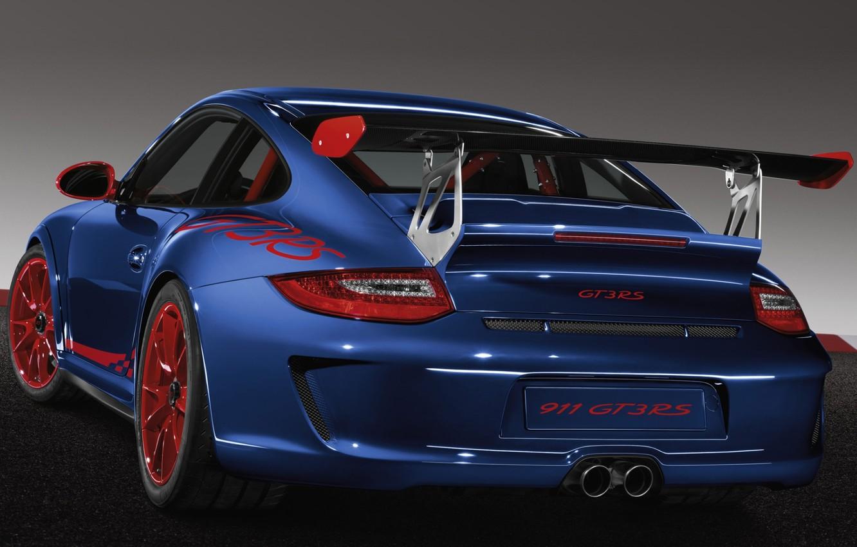 Photo wallpaper 911, Porsche, supercar, Porsche, rear view, GT3, GT3