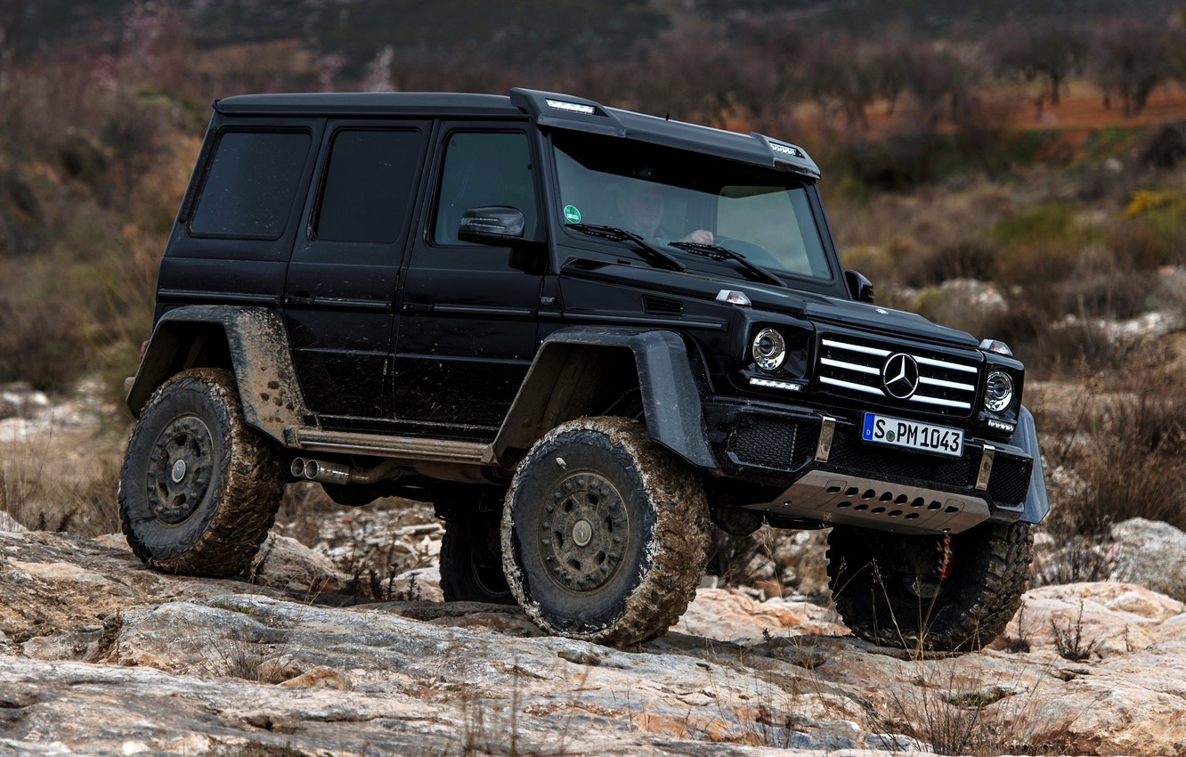 Photo wallpaper Concept, stones, black, Mercedes-Benz, Mercedes, BRABUS, 4x4, AMG, Benz, W463, 2015, G 500