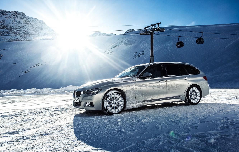 Photo wallpaper BMW, Winter, F30, X Drive, 330D