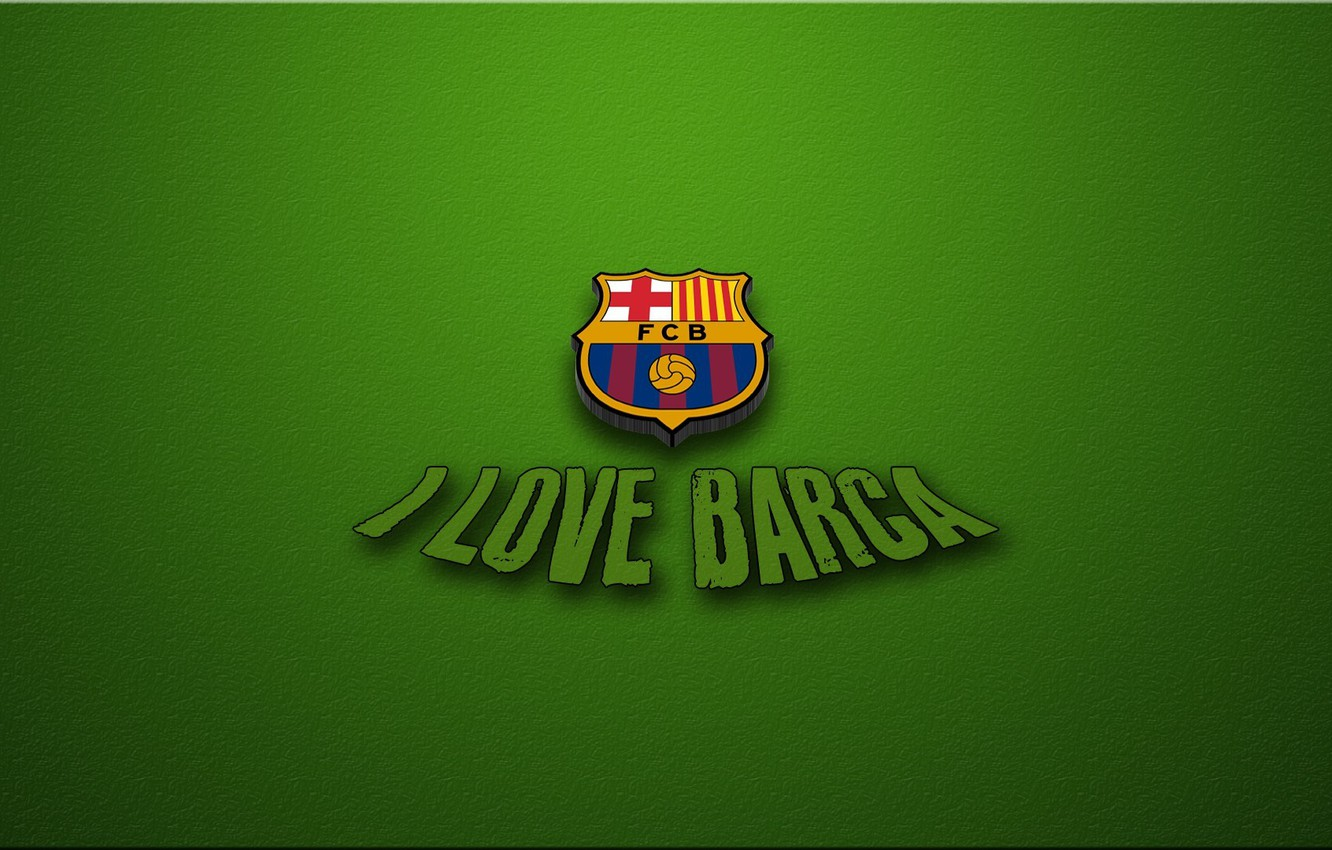 Wallpaper green football love barca love Barcelona football