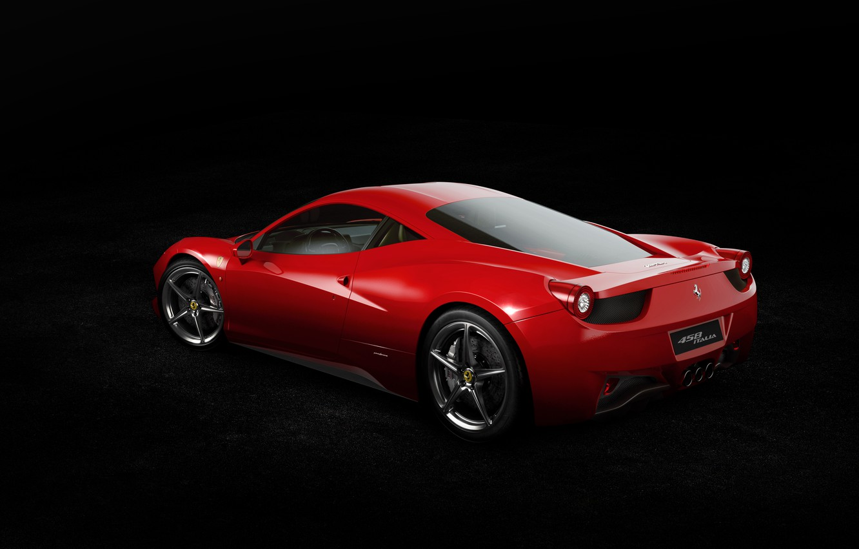 Photo wallpaper Ferrari, Red, 458, Widescreen, Italia, Supercar, Italian, Rear