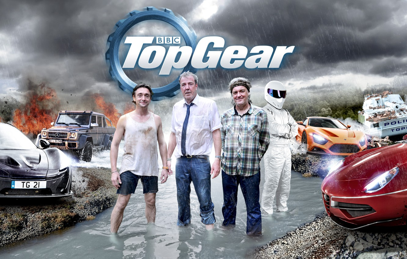 Photo wallpaper Jeremy Clarkson, Top Gear, Stig, Richard Hammond, James May, Top Gear, Leading, Burma Special