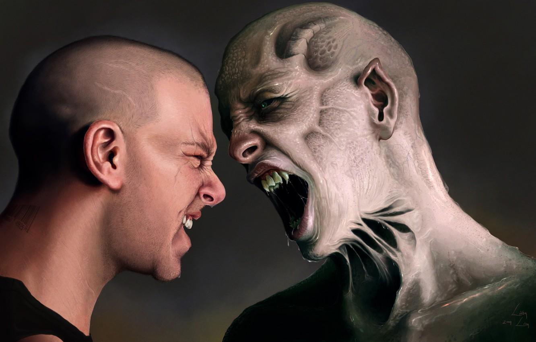 Photo wallpaper Monster, Guy, The Second I, Monster, Creek