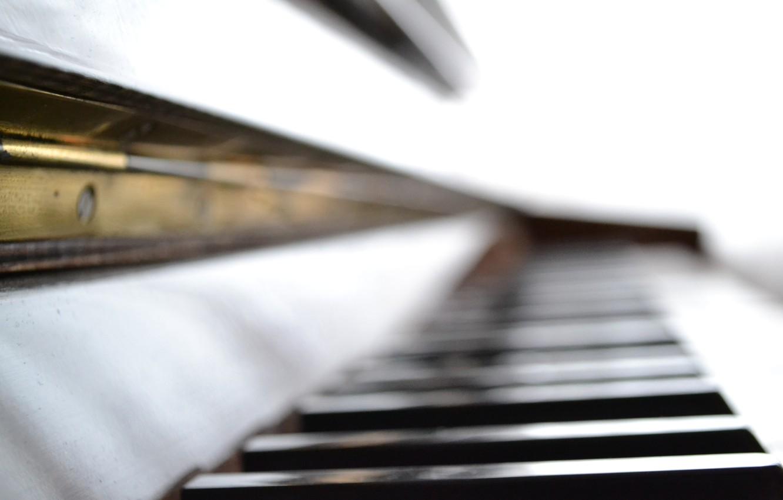 Photo wallpaper macro, music, focus, piano