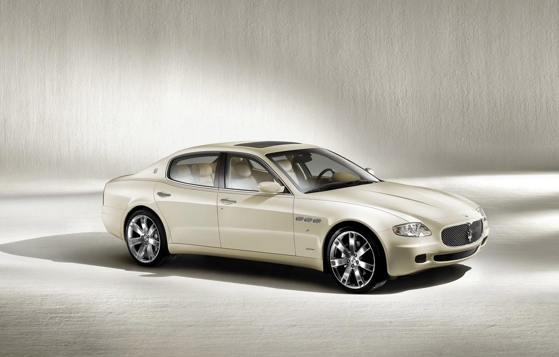 Photo wallpaper car, machine, auto, white, Maserati, Quattroporte
