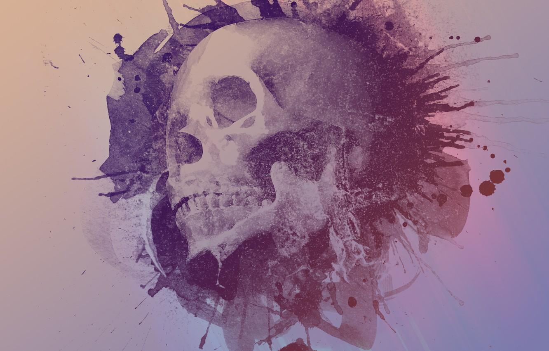 Photo wallpaper Design, Skull, Style, Design, Sake, Watercolour