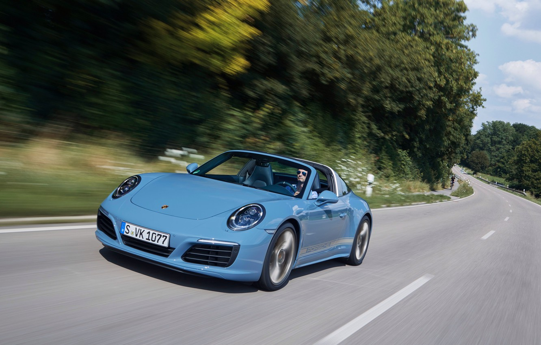 Photo wallpaper road, auto, speed, 911, Porsche, Porsche, Targa 4S