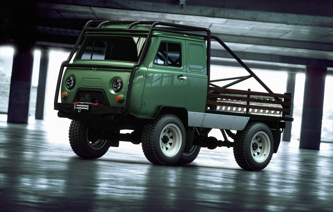 Photo wallpaper 4x4, UAZ, loaf, offroad