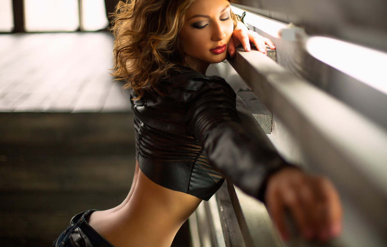 Photo wallpaper jeans, leather, figure, sponge