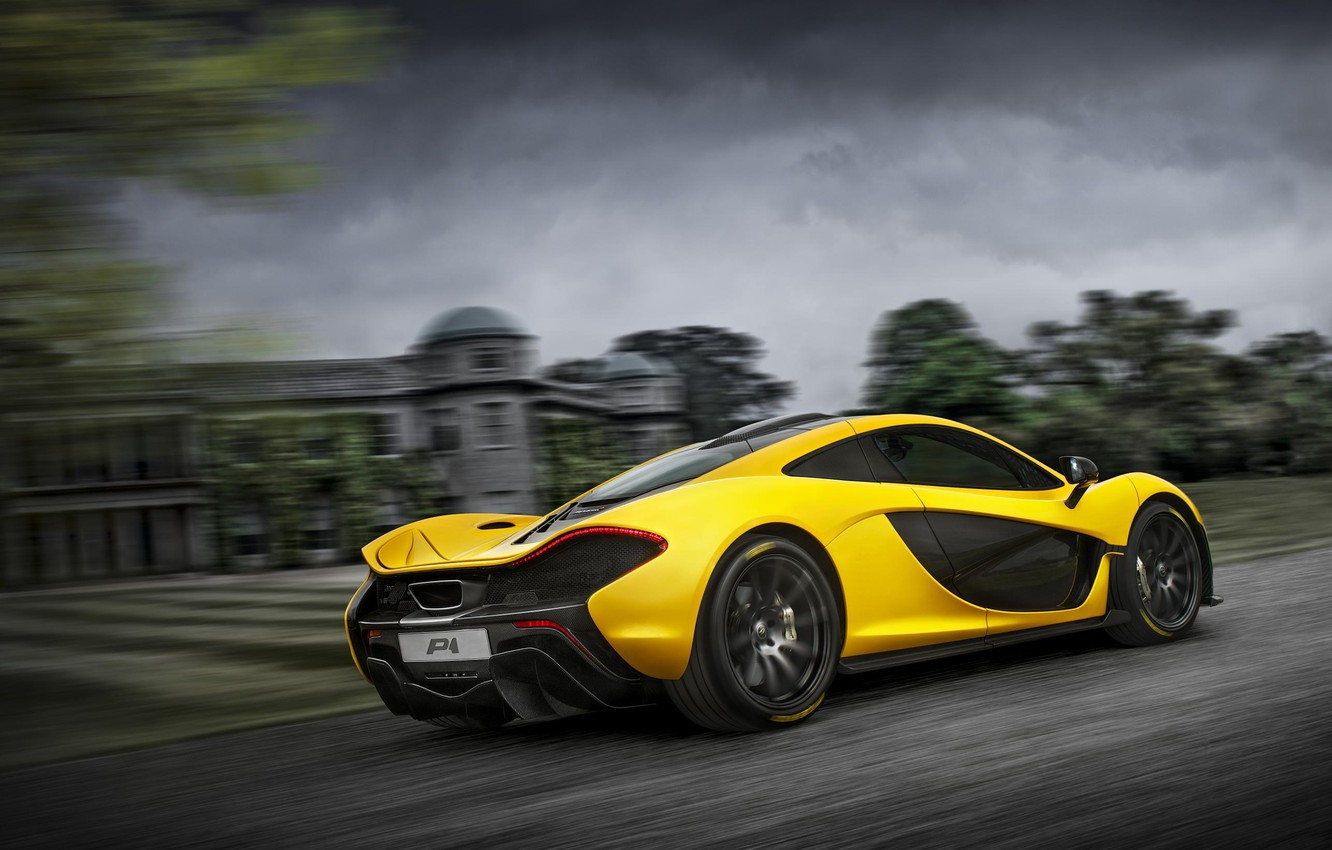 Photo wallpaper McLaren, Yellow, McLaren, Lights, Speed, Drives, Supercar, Yellow, Hypercar, Supercar, Wheels, Spoiler, Headlights, Hypercar, Spoiler