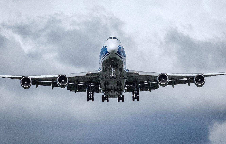 Photo wallpaper Boeing, 747, Jumbo Jet, Landing