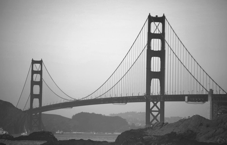 Wallpaper Usa Golden Gate Bridge Bridge California San Francisco Fog Black And White Architecture Structure America Golden Gate B W United States Of America Suspension Bridge Images For Desktop Section Gorod Download