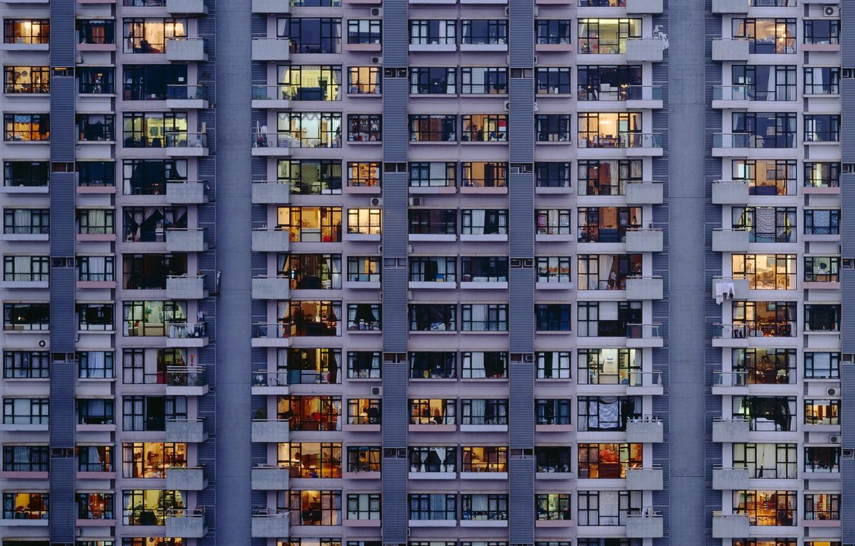 Photo wallpaper windows, building, apartment