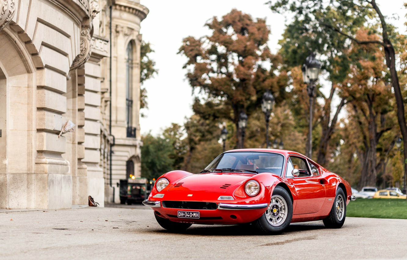 Photo wallpaper Ferrari, Dino, 206