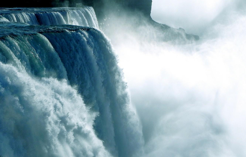 Photo wallpaper water, element, Waterfall