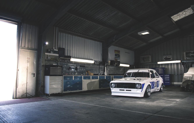 Photo wallpaper garage, ford, Ford, escort, escort