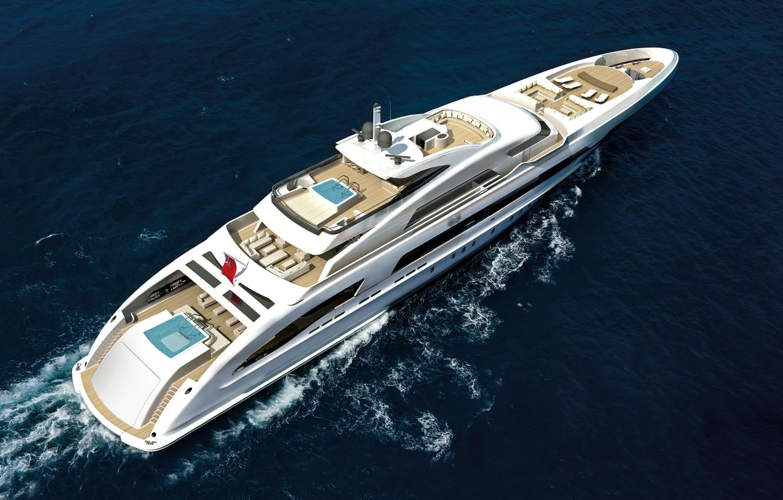 Photo wallpaper sea, yacht, super yacht, mega yacht, motor yacht