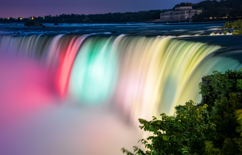 Photo wallpaper waterfall, Niagara, Canada, Niagara Falls Colors