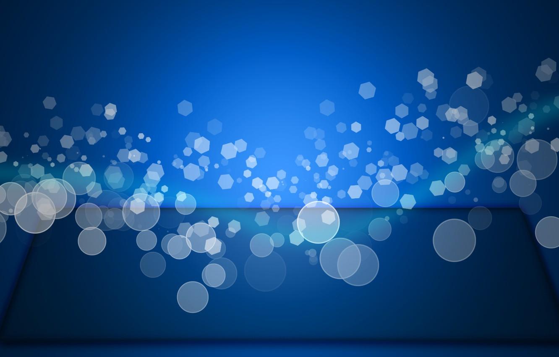 Photo wallpaper blue, wave, Bokeh, Effect