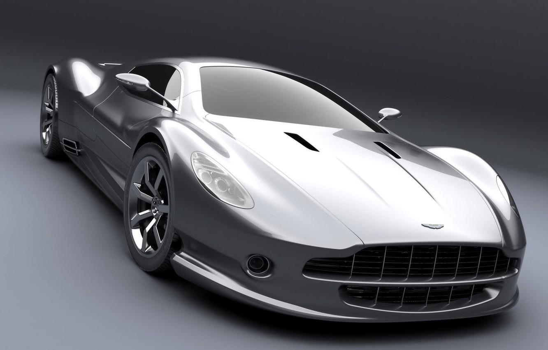 Photo wallpaper Aston Martin, silver, the concept