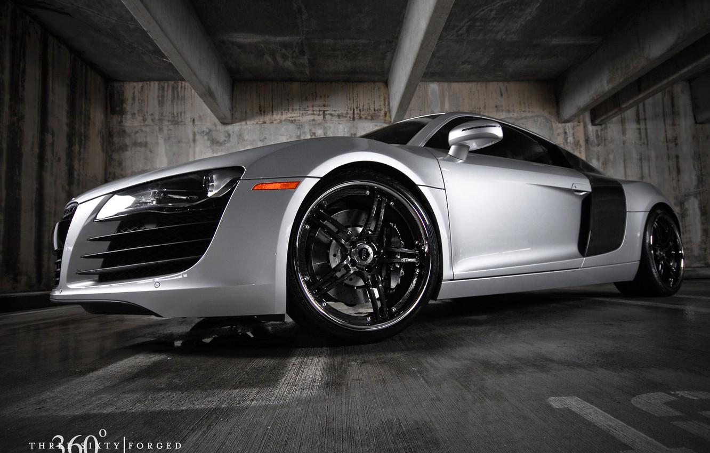 Photo wallpaper sports, Audi R8, silver