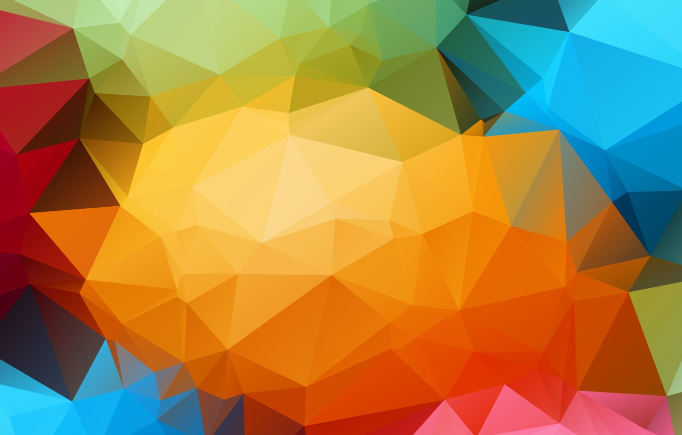 Photo wallpaper line, Wallpaper, color, structure, faces, the volume, triangle