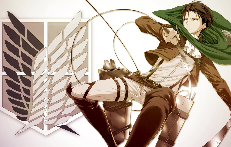 Photo wallpaper anime, Attack on Titan, Shingeki no Kyojin, Levi