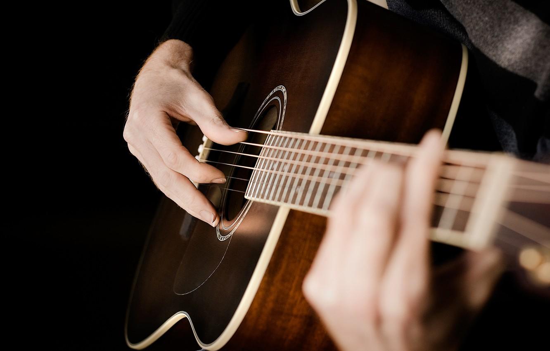 Photo wallpaper guitar, strings, hands, acoustics, Guitar, chord, strings, acoustic, hands
